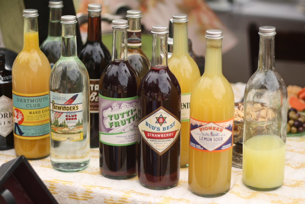 Drinks bottled with Vintage Labels