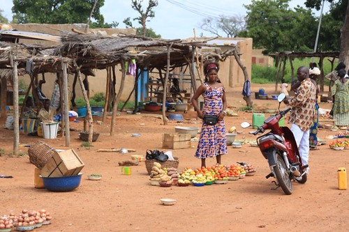 Local produce market, Burkina Faso.