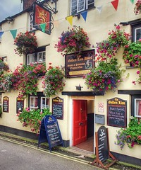 Padstow, Cornwall (Lord Muttley McFester) Tags: travel flowers holiday floral pub nikon cornwall baskets hdr padstow publichouse d700