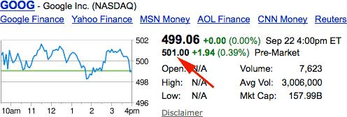 goog stock google
