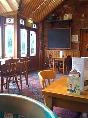 The Restaurant inside The Crooked House pub.