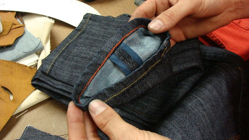 raleigh denim red stitching