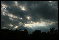 Heavenly Light (Cigar Lady) Tags: clouds evening chill sunbeams