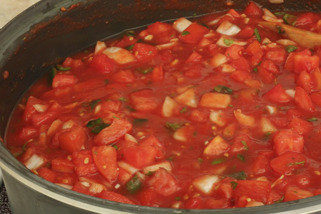 cooking salsa