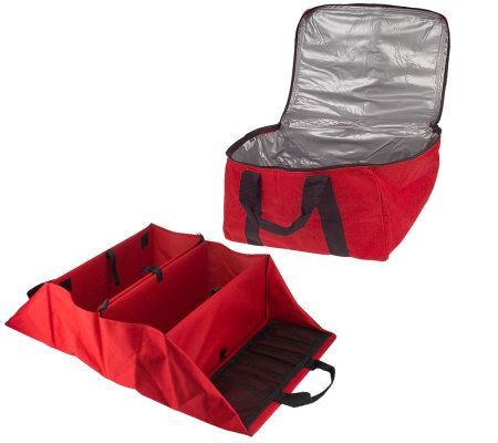 QVC v21175 Folding Trunk Organizer with Waterproof Thermal Carrier