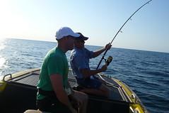 Rusty Hooks A Big One (Darel & Jess) Tags: fishing pemba fundu
