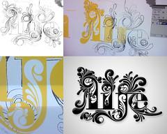 Life Stamp (MARCIO HIROSSE) Tags: life design graphic ornament font typo fonte grfico typographic typograph