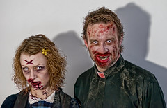 ZombieWalk Asbury Park NJ (Bob Jagendorf) Tags: woman man halloween blood zombie events nj asbury priest lucis zombiewalk hda jagendorf