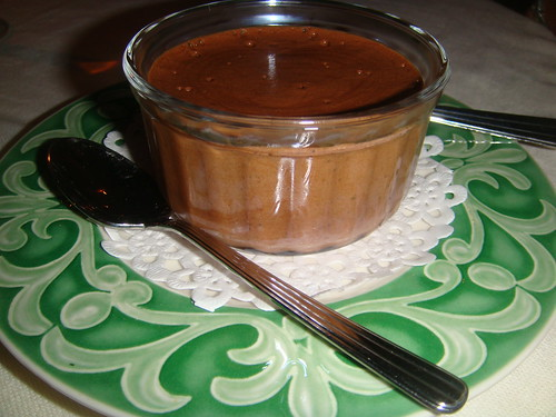 Mousse de chocolate negro