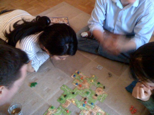 After the food coma, things got serious with Carcassone