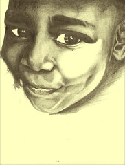smile (Justice Mukheli) Tags: art moleskine smile kids eyes drawing fineart charector paperdrawing photographicdrawing