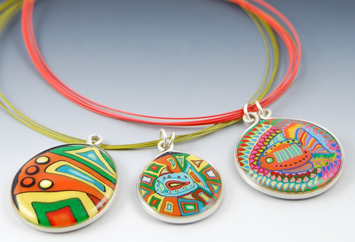 Three Colorful Pendants