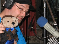 Stephen T. Otter prepares to record lines with Clive