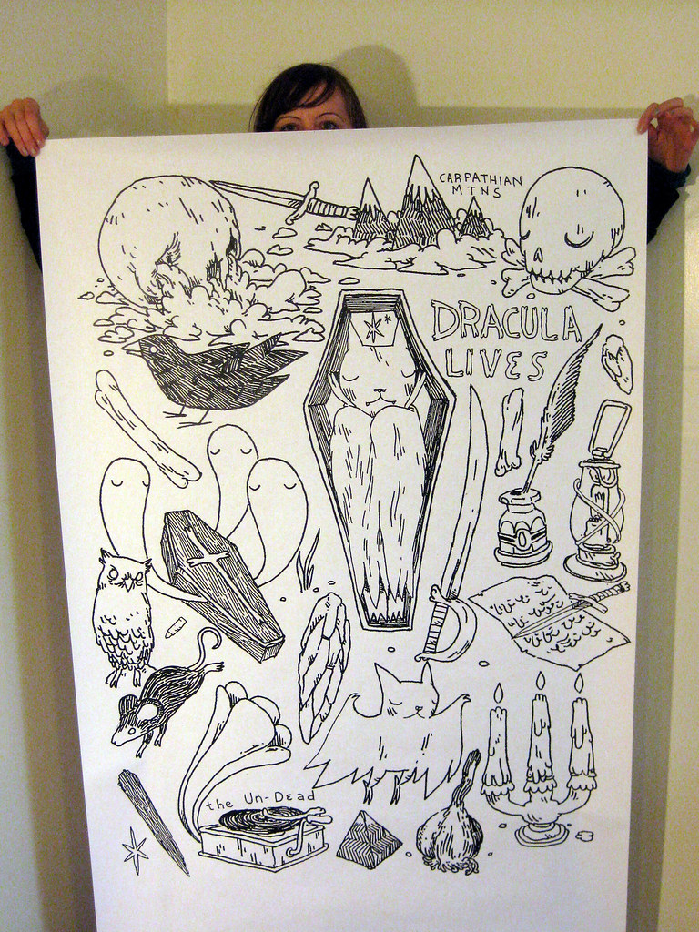 "Marci went to kinkos so Itagged along and ended up blowing up my drawings to 36""x48"" from 6""x8"" with one of their fancy machines"