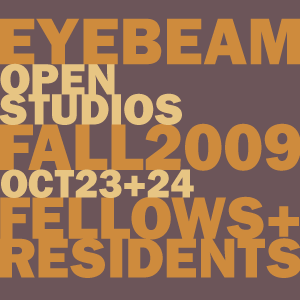 Studio Visits @Eyebeam Oct 23 & 24 3-6PM