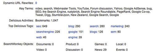 Yahoo Site Explorer Adds Data