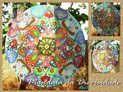 Mandala da Diversidade (Artes di Viviane Garcia) Tags: mobile natal quadro mandala biscuit quadros inveja energia mandalas mbile diversidade porcelanafria presentedenatal esotrico