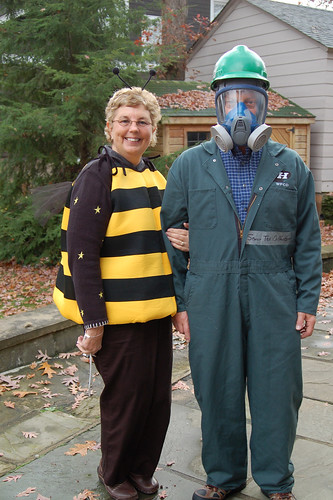 Halloween 2009:  The Bee and The Sewer Man.