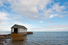 Boat House in Lake Huron