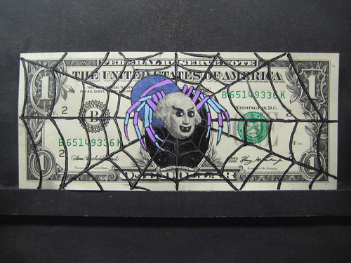 Drawn Dollar Bill Tarantula