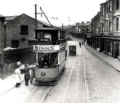 058837:Tram South Shields, Tram 3 on the Tyne Dock to Pierhead Route pre 1938 (Newcastle Libraries) Tags: transport tram trams newcastleupontyne tynesidelifeandtimes