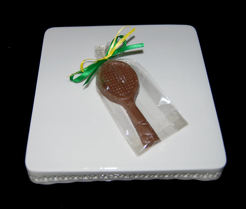 tennis racquet chocolate party favor