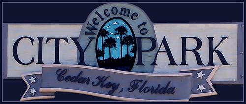 Cedar Key City Park Sign