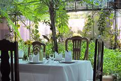 seating (unknown8bit) Tags: trip vacation house green restaurant alfonso philippines greenhouse organic tagaytay cavite sonyasgarden pilipinas barangaybuckestate