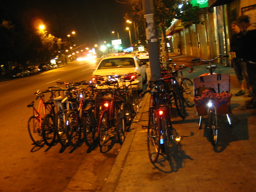 Bike corral in LA