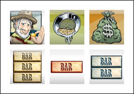 free Gold Rush slot game symbols