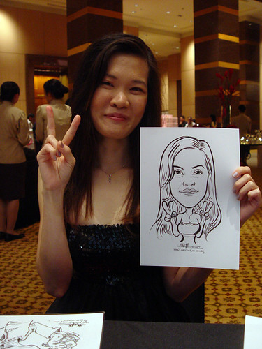 Caricature live sketching for Hitachi Plant Technologies D&D 2009 - 1
