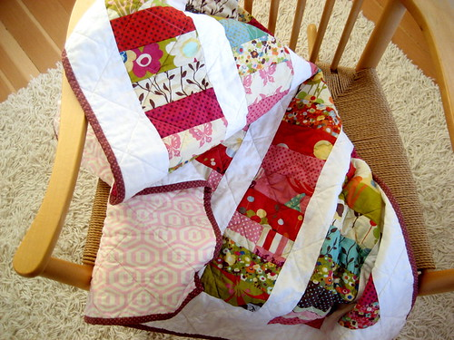 quilt on the chair