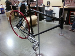 "KCSprints ""red"" bike 1/2 built"