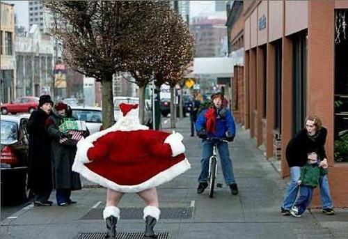 Santa showing off his Jingle Bells
