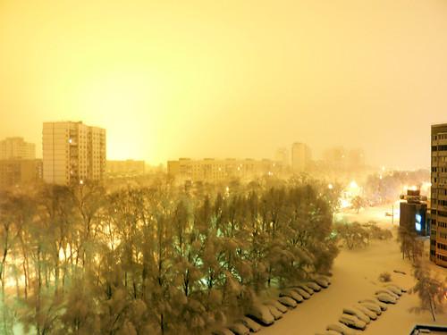 киев зима снегопад