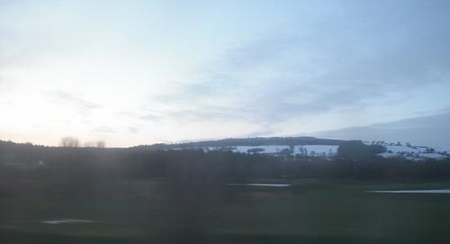 Snowy Welsh Hills