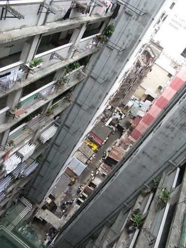 Fire trap of a building of hostels and apartments, Hong Kong