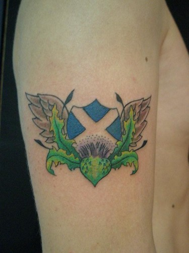 Scottish tattoo Done @ Heaven 'n'