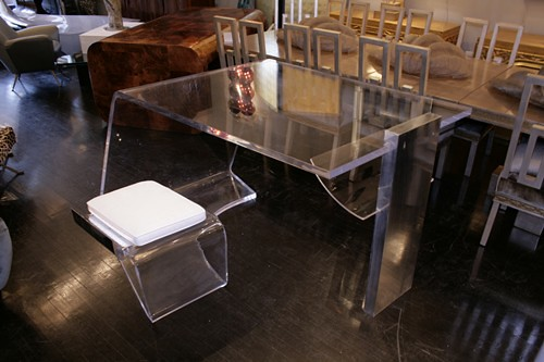 French Lucite Desk, 1970s