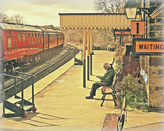 """Platform 1 For All Stations To Much Dawdling In The Marsh"" (~ paddypix ~) Tags: station yorkshire platform trains steam passenger embsay abigfave theunforgettablepictures"