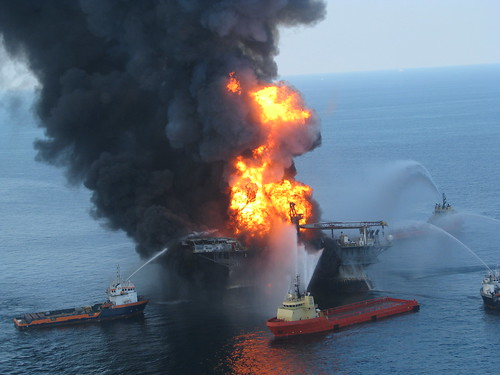 Deepwater Horizon Fire - April 22, 2010