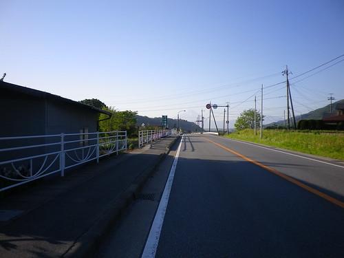 諏訪湖復路ではうっすらと富士山が見えた