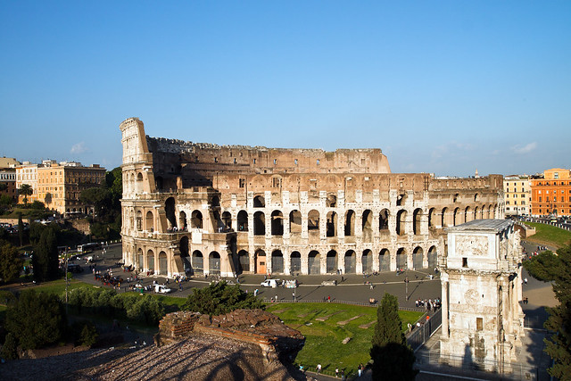 Rome. Coliseum from Palatine Hill