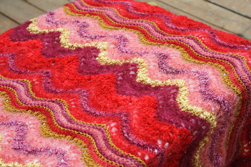 Colinette Ab Fab Afghan in Morello Thumb