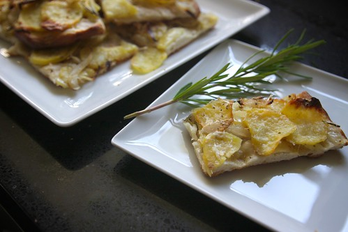 potato & rosemary pizza