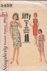 Simplicit 5459 (JuneHawk) Tags: vintage clothing pattern sewing vintagepattern