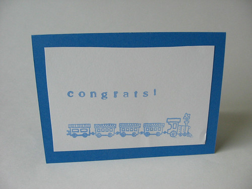 Train stamped card