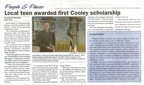 Awarded the Cooley Scholarship