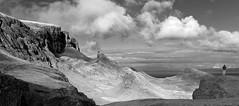 Quiraing (diffendale) Tags: skye hebrides scotland clouds hills bw quiraing