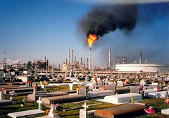 Death in Louisiana - Pollution (juliealicea1947) Tags: toxic cemetery graveyard death louisiana pollution chemicals refinery tombs pollutants hahnville canceralley
